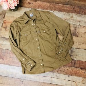 Carhartt button down western shirt